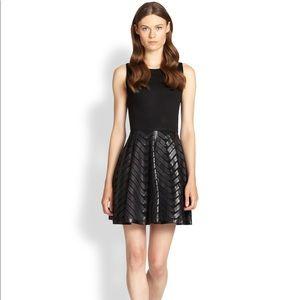 Alice + Olivia Zilla Leather Swing Skirt Dress 8